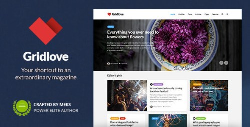 Gridlove v1.8.0 - Creative Grid Style News & Magazine WordPress Theme