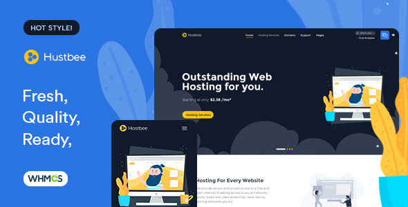 Hustbee - Hosting HTML & WHMCS Template