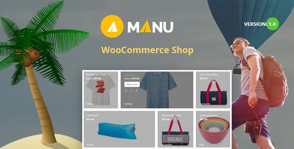 Manu v1.5 - Travel Store WooCommerce WordPress Theme