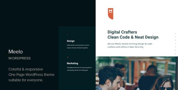 Meelo v1.2 - Corporate One Page WordPress Theme