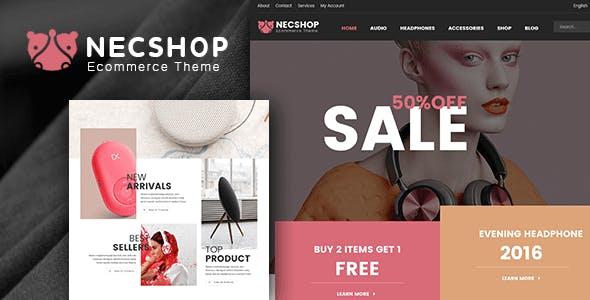 Nec Shop v1.9 - HiTech RTL Responsive WooCommerce WordPress Theme