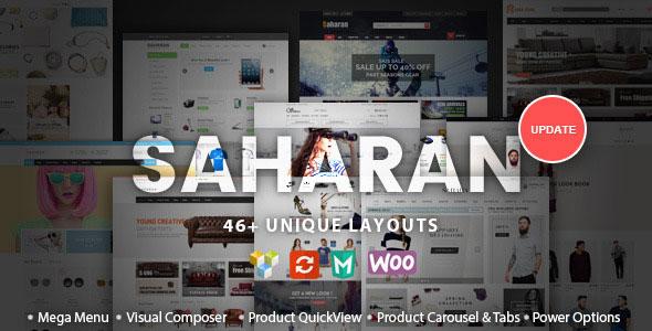 SAHARAN v1.5.2 - Responsive WordPress Theme