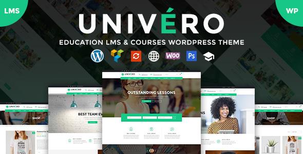 Univero v1.2 - Education LMS & Courses WordPress Theme