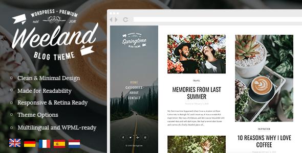 Weeland v1.3 - Masonry Lifestyle WordPress Blog Theme