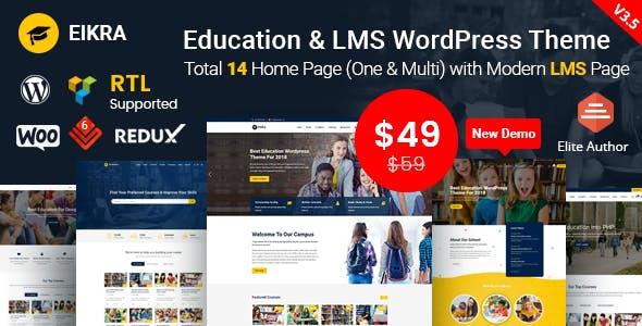 Eikra Education v3.5 - Education WordPress Theme