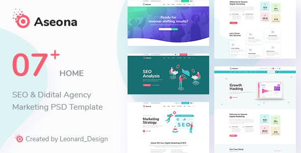 SeoMoz v1.0 - SEO Digital Marketing Template PSD