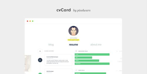 cvCard WP v1.4.0 - Responsive vCard Theme