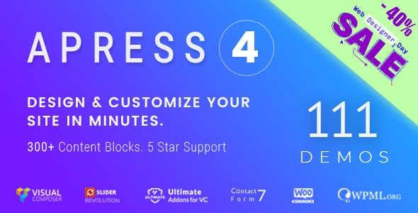 Apress v4.6.0 - Responsive Multi-Purpose Theme for WordPress
