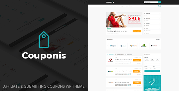 Couponis v2.0 - Affiliate & Submitting Coupons WordPress Theme