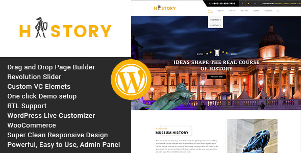 History v1.2.2 - Museum and Exhibition WordPress Theme (19 June 2019)