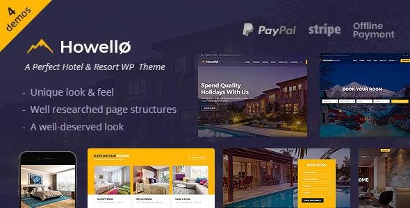 Howello v2.0 - Hotel and Resort WordPress Theme