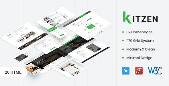 Kitzen v1.0 - Modern Kitchen HTML Template