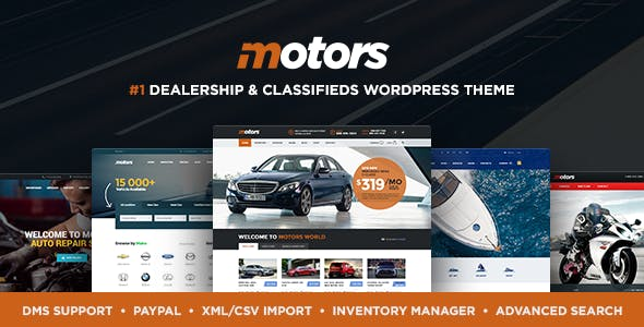 Motors v4.5.1 - Automotive, Cars, Vehicle, Boat Dealership