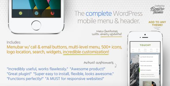 Touchy v3.4 - WordPress Mobile Menu Plugin