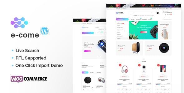 Ecome v1.5.1 - Electronics Store WooCommerce Theme