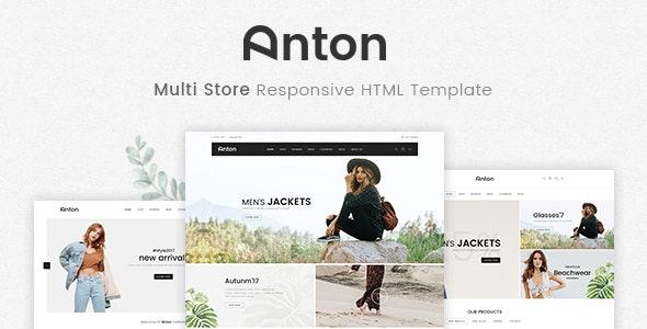 Anton v1.0 - Multi Store Responsive HTML Template