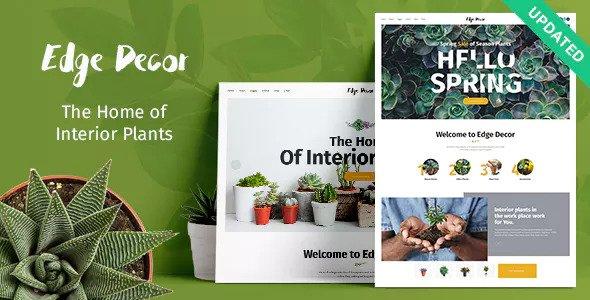 Edge Decor v1.1 - A Modern Gardening & Landscaping Theme