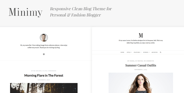 Minimy v1.2.0 - Responsive Clean Personal & Fashion Blog