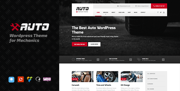 Auto v1.7.3 - WordPress theme for Mechanic, Car Dealers and Repair Shops