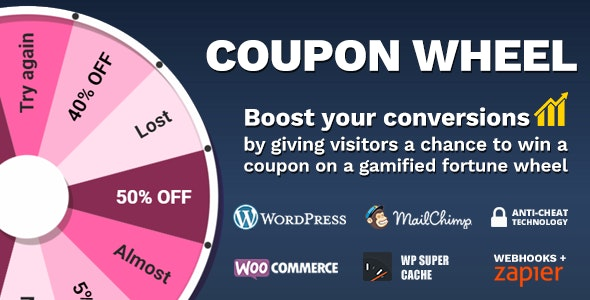 Coupon Wheel For WooCommerce and WordPress v2.7.3