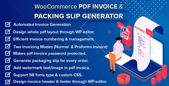 WooCommerce PDF Invoice & Packing Slip Generator v1.2.1