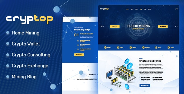 CrypTop v1.0.2 - ICO Landing and CryptoCurrency WordPress Theme
