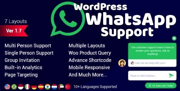 WordPress WhatsApp Support v1.8.4