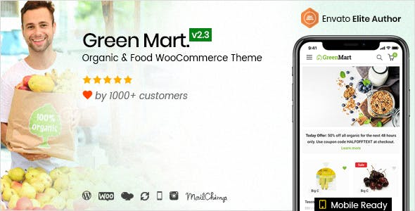 GreenMart v2.3.6 - Organic & Food WooCommerce WordPress Theme