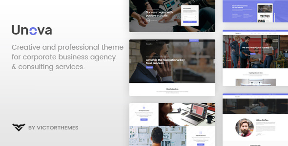 Unova v1.7 - Consulting Business WordPress Theme