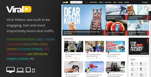 ViralVideo v2.0 - Responsive Magazine WordPress Theme