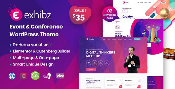 Exhibz v2.1.6 - Event Conference WordPress Theme