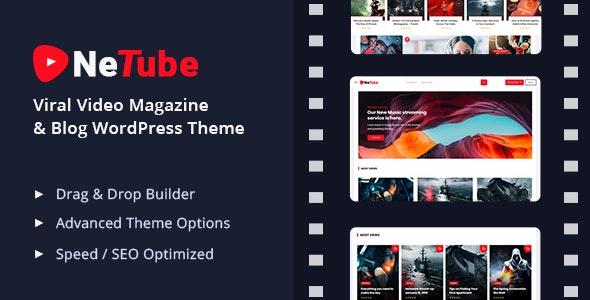 Netube v1.0.4 - Viral Video Blog / Magazine WordPress Theme