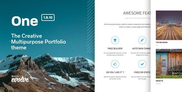 One v1.8.10 - The Creative Multipurpose Portfolio theme