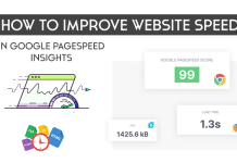 Improve Website Page Speed Test and Google Pagespeed Insights