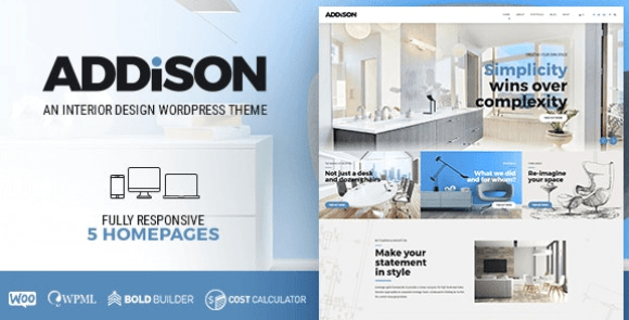 Addison v1.2.8 - Architecture & Interior Design WordPress Theme
