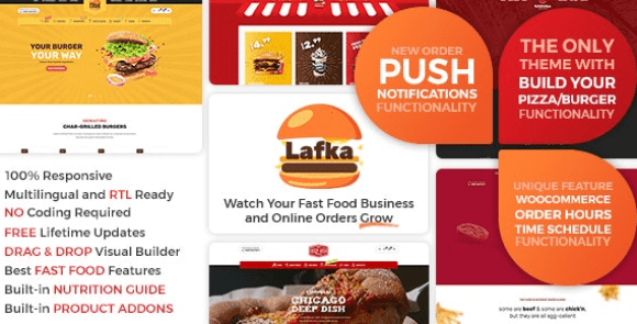 Lafka v1.4.7 - WooCommerce Theme for Burger & Pizza Delivery