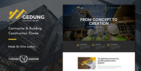 Gedung v1.3 | Contractor & Building Construction Theme