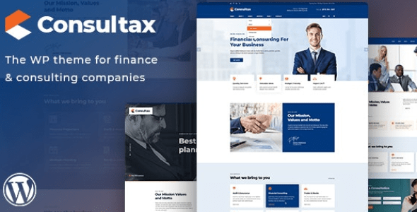 Consultax v1.0.2 - Financial & Consulting WordPress Theme