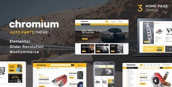Chromium v1.3.17 - Auto Parts Shop WordPress WooCommerce Theme
