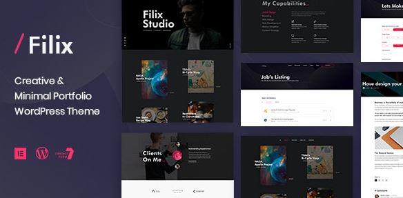 Filix - Creative Minimal Portfolio WordPress Theme v1.2.5