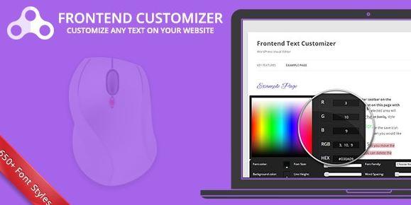 Frontend Text Customizer v1.2.3 - WordPress Visual Editor