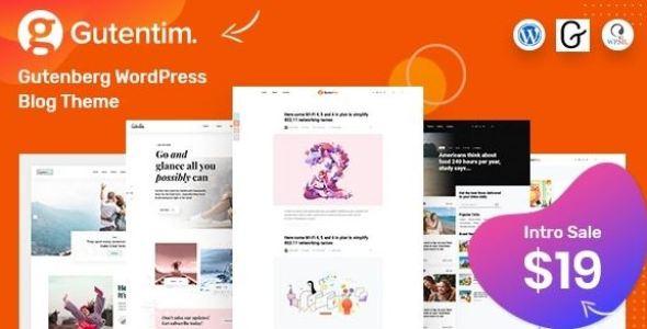 Gutentim v1.1 - Modern Gutenberg WordPress Blog Theme