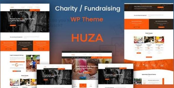 Huza v1.8 - Charity/Fundraising Responsive Theme