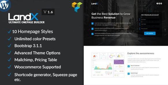 LandX v1.8.6 - Multipurpose WordPress Landing Page
