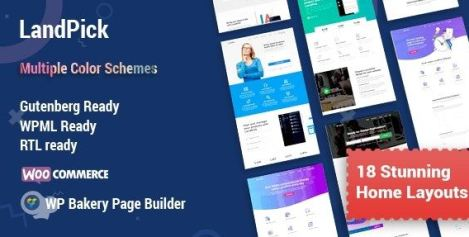 Landpick v1.3.7 - Multipurpose Landing Pages WordPress Theme