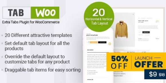 TabWoo v1.0.8 - Custom Product Tabs for WooCommerce