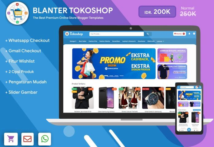 Blanter Tokoshop Blogger Template