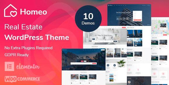 Homeo - Real Estate WordPress Theme