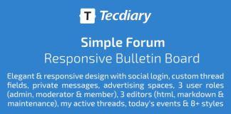 Simple Forum - Responsive Bulletin Board
