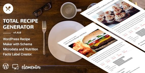 Total Recipe Generator - WordPress Recipe Maker with Schema and Nutrition Facts (Elementor addon) v2.6.1